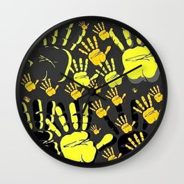 Hands All Over Me Wall Clock