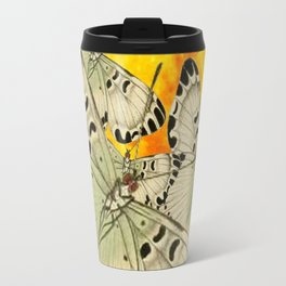GOLDEN MOON MOTHS ON PUCE & PINK Travel Mug