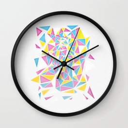 Triangle Cascade Wall Clock