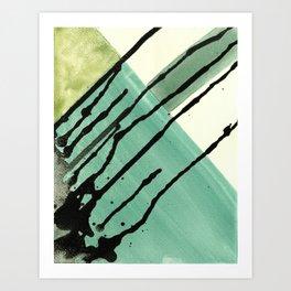 Watercolor Monoprint #5 Art Print