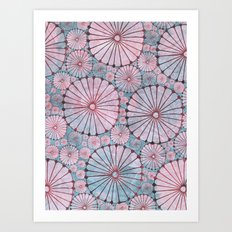 Abstract Floral Circles 3 Art Print
