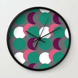 Overlapping Dots Wall Clock