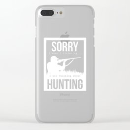 Hunting Hunter Hunting Papa Rifle Forest Clear iPhone Case