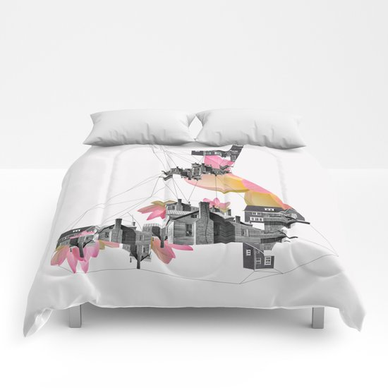 Filled with city Comforters
