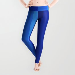 Gradient Shades Of Blue Vertical Stripes Leggings