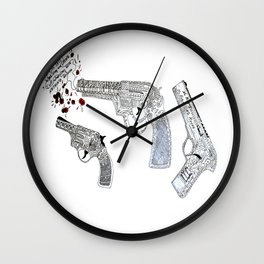 Shoot by art Wall Clock