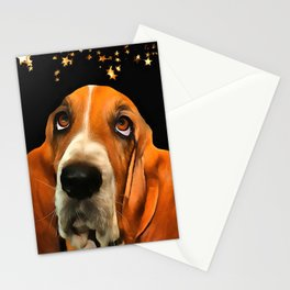 A Basset Hound. (Painting.) Stationery Cards