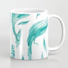 Mint Garden Floral Coffee Mug
