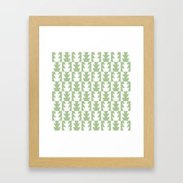 Art Deco Jagged Edge Pattern Sage Green Framed Art Print