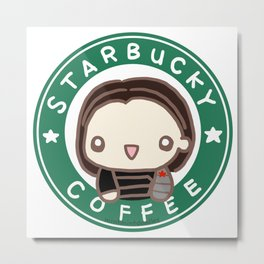 SBucky Coffee Metal Print