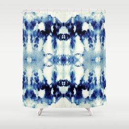 Tie Dye Blues Shower Curtain