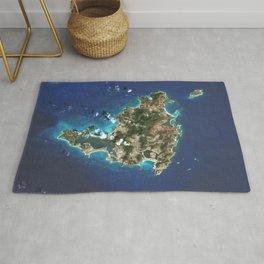Saint Martin Satellite Image Rug