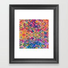 Watercolour Ikat IV Framed Art Print
