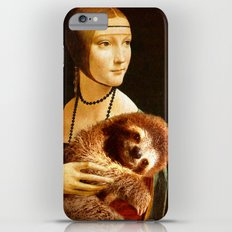 Lady With A Sloth iPhone 6 Plus Slim Case