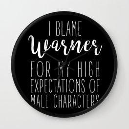 High Expectations - Warner Black Wall Clock