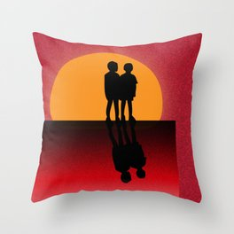 Concrete Jungle Monkeys Throw Pillow