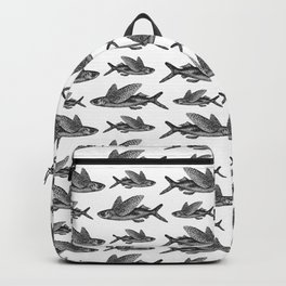 Flying Fish | Black and White Backpack