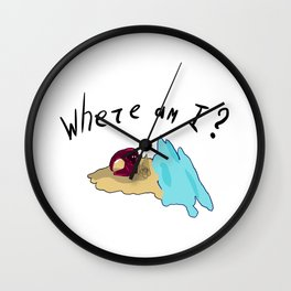 Lost traveler Wall Clock