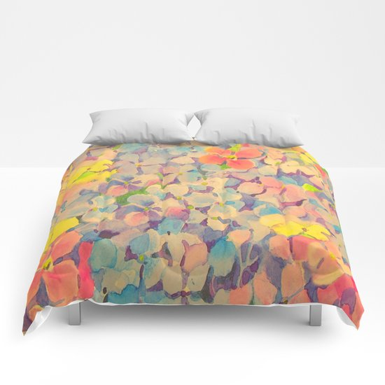 Summer Time Floral  Comforters