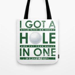 Funny Golfing Player Hobby Golfer Club Tote Bag