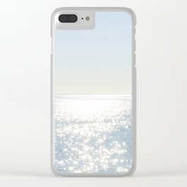 Electric Blue Ocean Clear iPhone Case