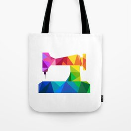 Geometric Sewing Machine Tote Bag