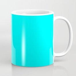 Neon Aqua Blue Bright Electric Fluorescent Color Coffee Mug