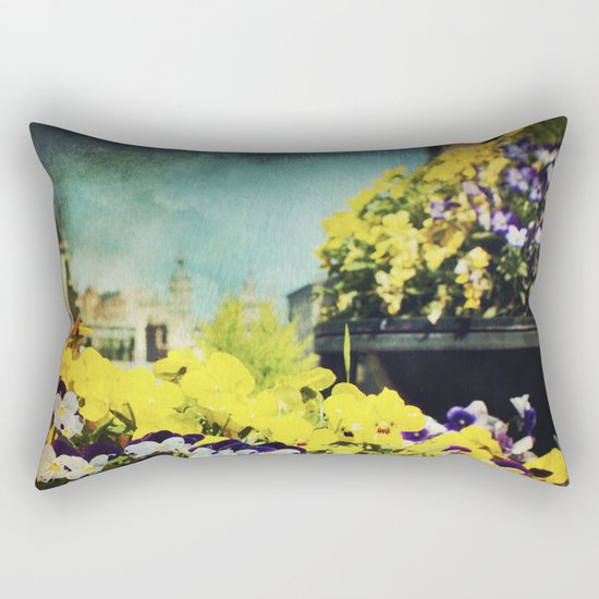 Behind the flowers Rectangular Pillow