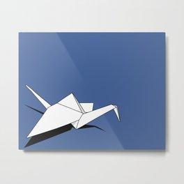 Paper Crane Metal Print