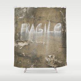 Fragile city Shower Curtain