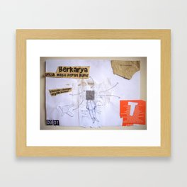 Draw your days : day#4 Berkarya Untuk Masa Depan Bumi Framed Art Print