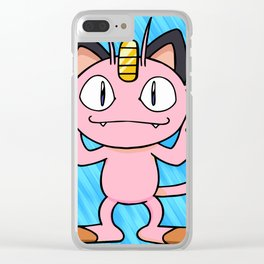 Color cat abstract cute Clear iPhone Case