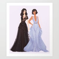 korrasami Art Prints featuring Korrasami by punziella