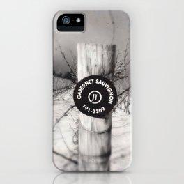 Cabernet - black and white wine photo vineyard iPhone Case