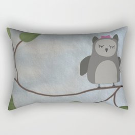 Sleeping Owl Rectangular Pillow