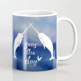 Narwhal Seas the Day Coffee Mug
