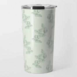 Monstera Adansonii houseplant hand-drawn art Travel Mug