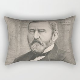 Vintage Illustrative Portrait of Ulysses S Grant (1885) Rectangular Pillow