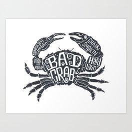 Bad Crab Art Print