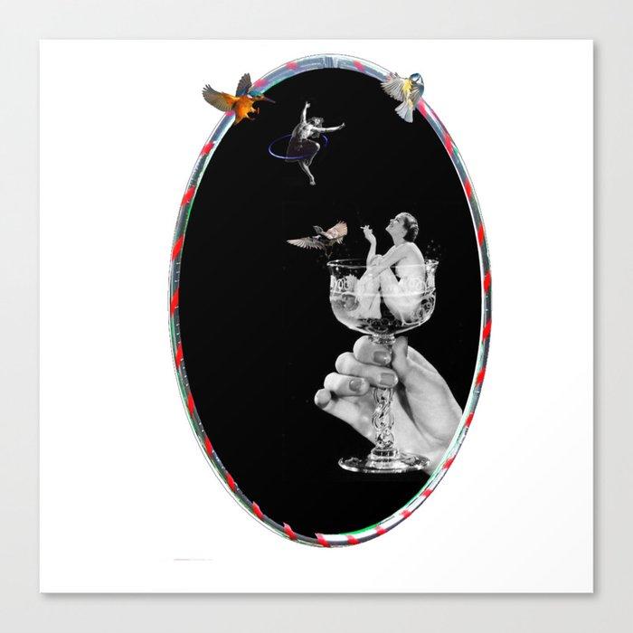 Tipsy Hoop Dream Canvas Print