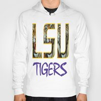 decal Hoodies featuring LSU NEW DECAL by The Greedy Fox