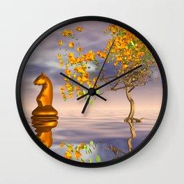 knight's dreamscape Wall Clock