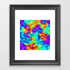 Geometric colour Framed Art Print