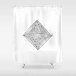 DMT OCTAHEDRON Shower Curtain