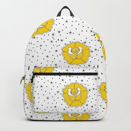 Yellow Rose Tattoo Flash Backpack