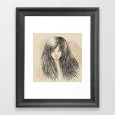 hair dreams Framed Art Print
