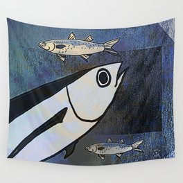 Tuna Fish and Others Wall Tapestry