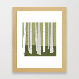Quiet Birches Framed Art Print