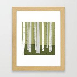 Quiet Birches Framed Art Print