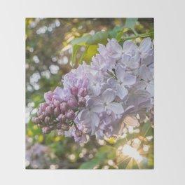 Spring Lilacs Throw Blanket